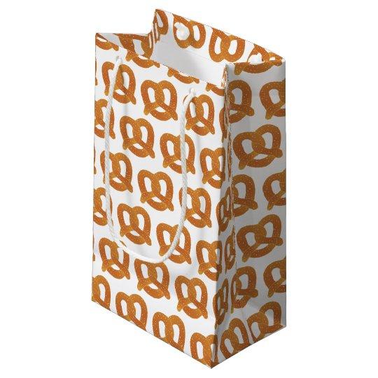 Sacola Para Presentes Pequena Teste padrão do pretzel macio