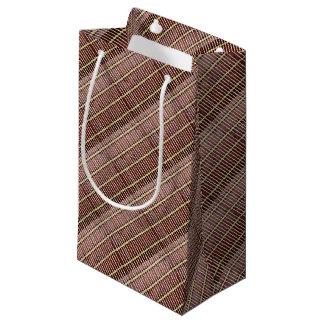 Sacola Para Presentes Pequena textura de bambu da esteira