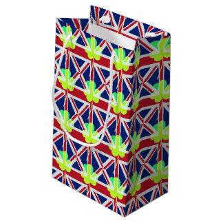 Sacola Para Presentes Pequena Trevo britânico irlandês St Patrick Reino Unido do