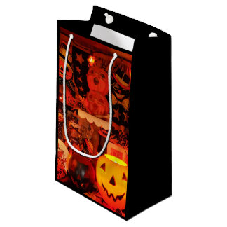 Sacola Para Presentes Pequena Um saco do presente do Dia das Bruxas do vintage