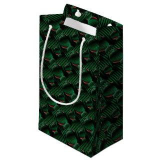 Sacola Para Presentes Pequena Verde com vermelho no vidro