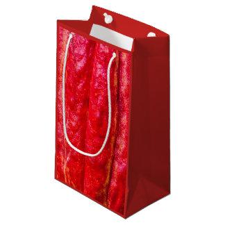 Sacola Para Presentes Pequena vermelho do vagem do cacau