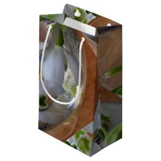 Sacola Para Presentes Pequena vidro dos snowdrops