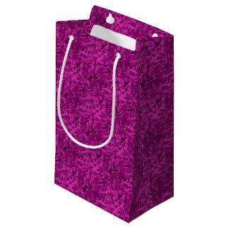 Sacola Para Presentes Pequena Violeta abstrata do pop art da folha