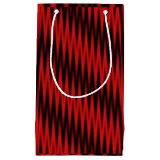 Sacola Para Presentes Pequena Ziguezague vermelho
