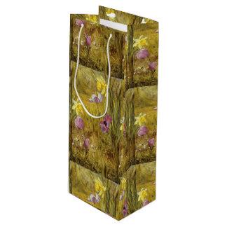 Sacola Para Vinho Anêmonas do vintage e Daffodils Henry Newman