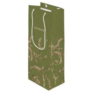 Sacola Para Vinho As bolsas elegantes do vinho do favor do casamento