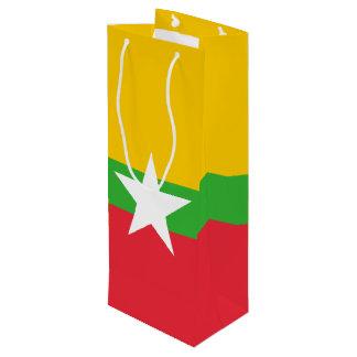 Sacola Para Vinho Bandeira de Burma