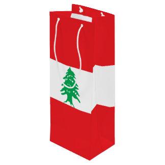 Sacola Para Vinho Bandeira de Líbano
