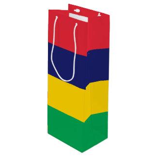 Sacola Para Vinho Bandeira de Maurícia