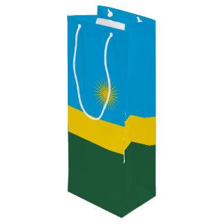 Sacola Para Vinho Bandeira de Rwanda