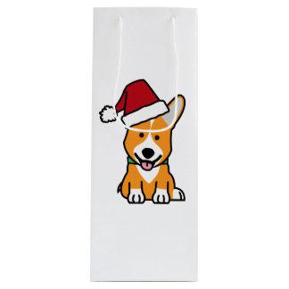 Sacola Para Vinho Chapéu do papai noel do Natal de Galês do Pembroke