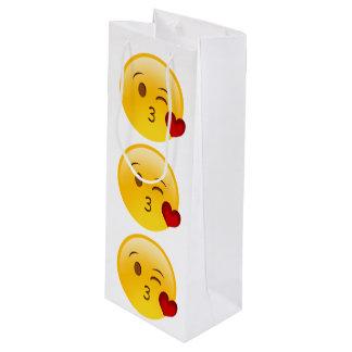 Sacola Para Vinho Coração Emoji