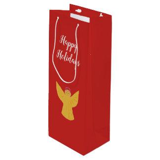 Sacola Para Vinho Costume do saco do presente do vinho do Natal