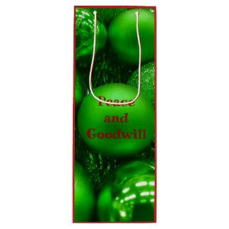 """Sacola Para Vinho Da benevolência do feriado da """"bolas redondas"""