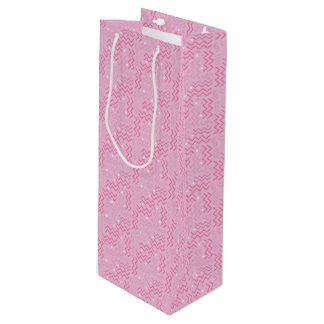 Sacola Para Vinho Design Funky de Memphis do rosa Pastel