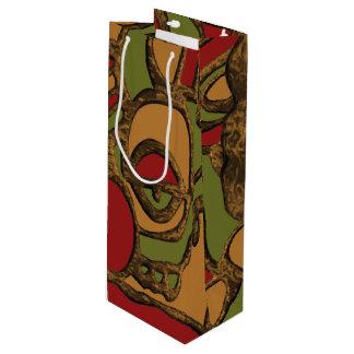 Sacola Para Vinho Design maia original dos Hieroglyphs