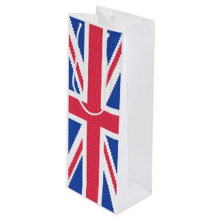 Sacola Para Vinho Design original Union Jack do ponto de cruz