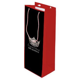 Sacola Para Vinho Do 2-Tom de prata da coroa da senhorita América