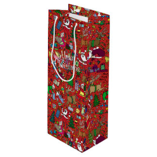 """Sacola Para Vinho Do """"saco do presente do vinho da agitação Natal"""""""
