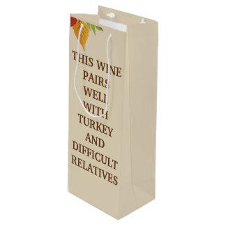 Sacola Para Vinho Este vinho emparelha-se bem