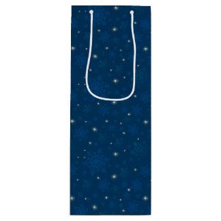 Sacola Para Vinho Flocos de neve & luz das estrelas Sparkling
