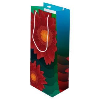 Sacola Para Vinho Flor do Gerbera