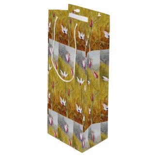 Sacola Para Vinho Flores do vintage em uma paisagem Henry Newman