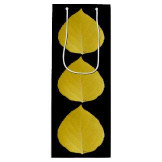 Sacola Para Vinho Folha amarela #5 de Aspen