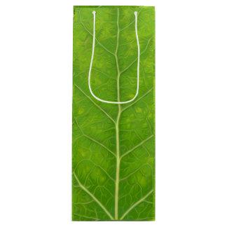 Sacola Para Vinho Folha verde #11 de Aspen