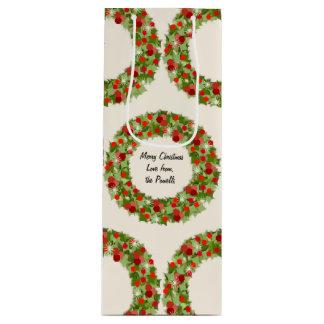 Sacola Para Vinho Grinaldas do Natal