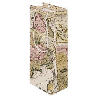 Sacola Para Vinho Mapa francês medieval América de Quebeque/France