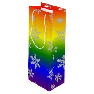 Sacola Para Vinho Natal alegre simples e elegante