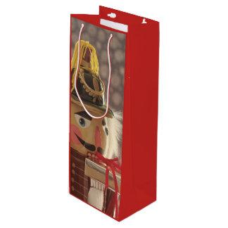 Sacola Para Vinho Nutcracker com presente de prata