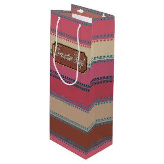 Sacola Para Vinho Os rosa inline dos pontos bronzeiam saco listrado