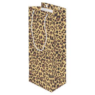 Sacola Para Vinho Padrões da pele animal do impressão do leopardo