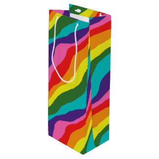 Sacola Para Vinho Padrões do arco-íris