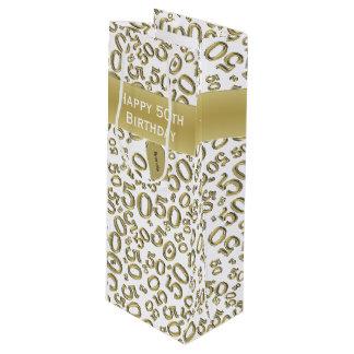 Sacola Para Vinho Personalize:  50th ouro feliz do