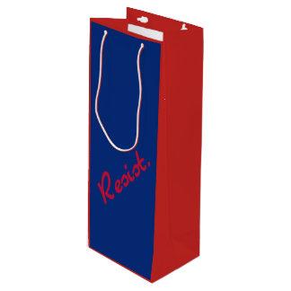 Sacola Para Vinho Resista a resistência vermelha e azul