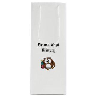 Sacola Para Vinho Saco bêbedo do presente da adega da coruja
