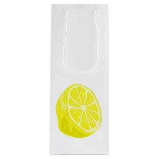 Sacola Para Vinho Saco do presente do limão meio