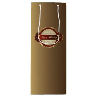Sacola Para Vinho Saco extravagante do presente do vinho do ouro &