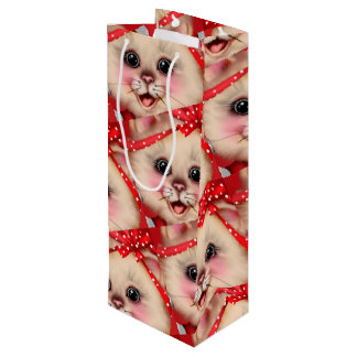 Sacola Para Vinho Saco GRANDE do presente do CHEERLEADER do CAT -