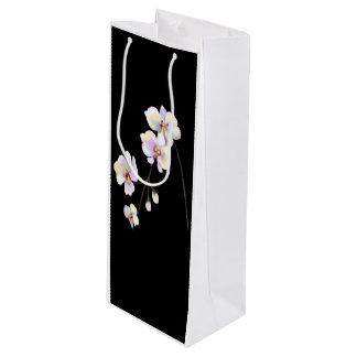 Sacola Para Vinho Saco preto e branco do vinho da orquídea