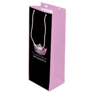 Sacola Para Vinho Saco-Vinho cor-de-rosa do presente do rosa do