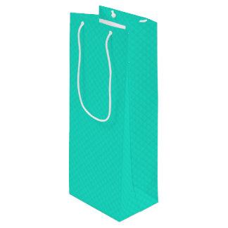 Sacola Para Vinho Teste padrão acolchoado azul do Aqua de Tiffany