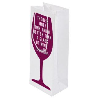 Sacola Para Vinho Vidro do vinho