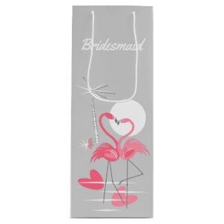 Sacola Para Vinho Vinho do saco do presente da dama de honra do amor