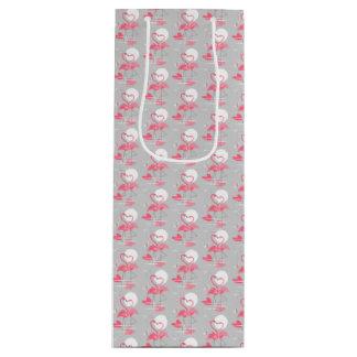 Sacola Para Vinho Vinho do saco do presente do amor do flamingo