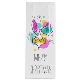 Sacola Para Vinho Vinho retro do saco do presente do Natal dos